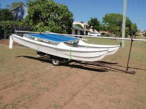 Early Hobie 14' catamaran with trailer good easy project. Heritage Park Logan Area Preview