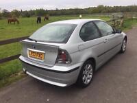 2002 BMW 3 Series 1,8 litre 3dr 12 months mot