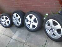 FORD FIESTA / FOCUS , EDGE ALLOY WHEELS / 16 inch new tyres