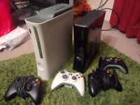 Xbox 360 slim 250gb (games and controllers included)