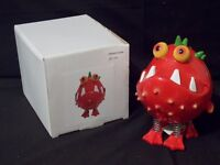 UGLY FISH MONEY BOX, BRAND NEW IN ORIGINAL BOX BRIGHT RED 150mm TALL