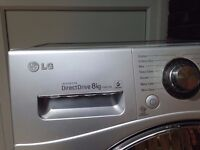 LG Direct Drive 8kg F1481TD5 Washer - Silver