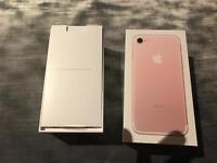 iPhone 7 rose gold 32gb sim free