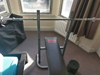 York cast iron weights and bench 70kg+