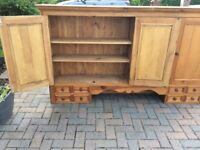 DRESSER UNIT, HAND MADE, SOLID QUALITY PINE, HAND POLISHED, EXCELLENT CONDITION.