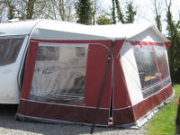 Dorema Polaris burgundy awning size 12, 925 - 950 cm - good condition but without frame