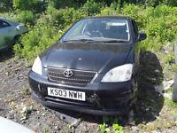 Toyota Corolla Tspirit 2003 1.4 petrol Breaking