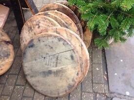 Vintage branded whisky lids