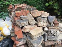 Sandstone and stone blocks