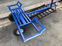 Car recovery towing dolly trailer with winch