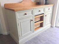 Kitchen Island / Farmhouse Side Unit - Quality Construction of Solid Timbers.