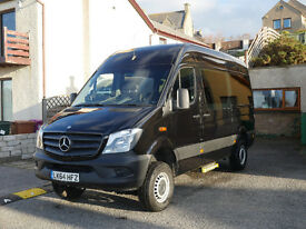 2015 4x4 Mercedes Sprinter LWB Disabled vehicle for sale.