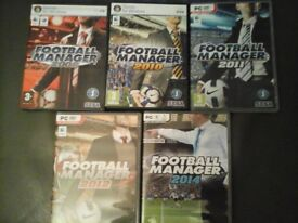 Football Manager 2008....2010......2011.....2012 & 2014