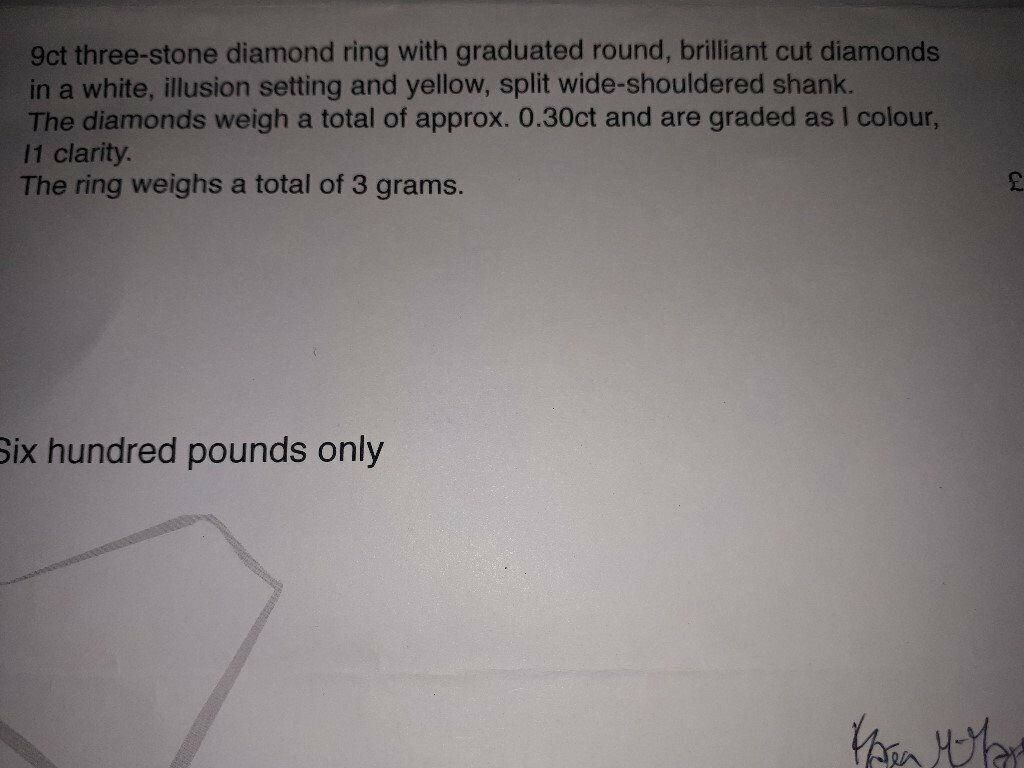 Diamond Ring - Size P - With Valuation Certificate | in Stenhousemuir,  Falkirk | Gumtree