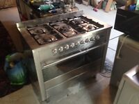 Double gas cooker
