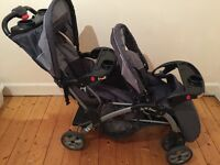 Sit and stand double buggy/ stroller