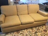 Three piece sofa and 1 armchair