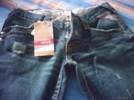 Brand New. Ladies Animal Jeans. Size 10.