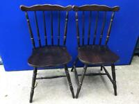 Pair of dining chairs with FREE DELIVERY PLYMOUTH AREA
