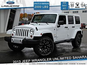 2013 Jeep WRANGLER UNLIMITED **SAHARA*4X4*NAVI*CRUISE*A/C**