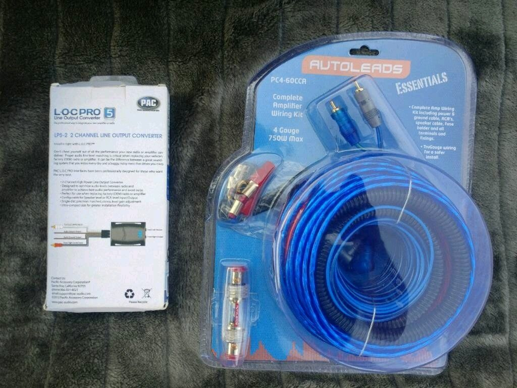 Complete thick wiring kit for car audio woofer Nd ampligier | in ...
