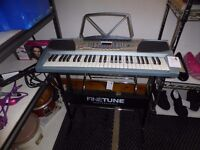 FINE TUNE PROFESSIONAL ELECTRONIC KEYBOARD AND STAND