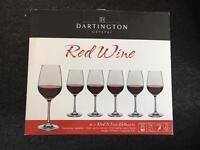 Brand new, never used 6 Crystal Wine Glasses