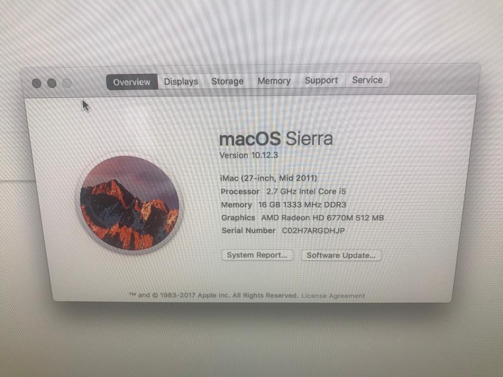 """27"""" i5 iMac 16gb ram 1tb storagein Johnstone, RenfrewshireGumtree - Immaculate 27"""" mid 2011 iMac. Was used in office and fully refurbished. Bought a few weeks ago however I dont use as much as I anticipated. Upped to 16gb ram with 1tb storage. Perfect condition, runs wonderfully. Will be fully reset and..."""