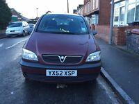 Vauxhall Zafira Club 2002