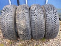 4 Michelin Alpin Winter Tyres 195/60 R15 88T all with 7mm + tread. £80 ovno