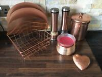 Copper Ornaments Decorations Kitchen Items Display House Clearance