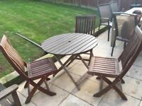 Garden table and 3xchairs