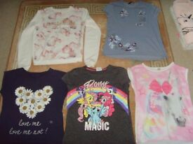 SELECTION OF GIRLS TOPS VARIOUS AGES - 50P EACH