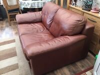 Leather sofa, large 2 seater