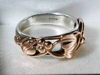 Clogau Tree of Life Silver and Welsh Rose Gold Ring