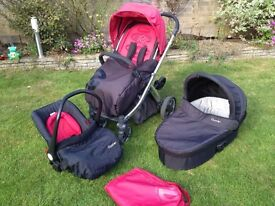 Oyster buggy, buggy board, carry cot and car seat