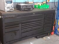 """73"""" Matte black snap on classic 96 roll cab 9 months old with top bench"""