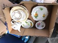 Roselyn China and Royal Dolton tea pot