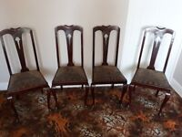 Set of 4 Vintage Dining Chairs