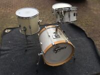 Gretsch Catalina Club Jazz Drum Kit (White Marine Pearl) & Protection Racket Cases For Sale