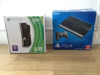 Playstation 3 Elite Slim and Xbox 360 Slim Empty Original Retail Boxes