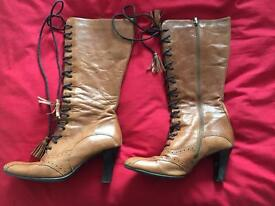 Brown Leather Women's Boots
