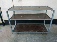 Mobilecdj deck stand equipment trolley and front
