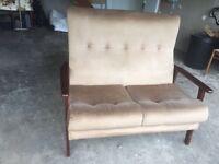 £50 ONO Parker Knoll cream beige 2 seat sofa