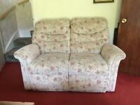 2 Seater Manual Reclining Sofa