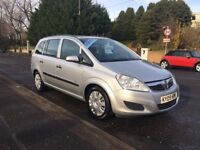 Vauxhall Zafira 1.6 i 16v Life 5dr - 7 Seater. Low Mileage.