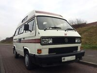 1990 VW T25 AUTO-SLEEPER TRIDENT HIGH TOP CAMPERVAN IN EXCELLENT CONDITION. LAST OWNER SINCE 1996.