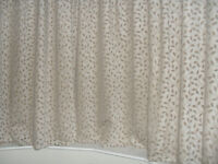 Curtains, chenille, 90'' wide x 72'' drop but turned up to 64'' to fit a bay window