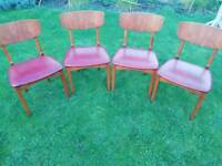 4 Retro 1970s kitchen chairs