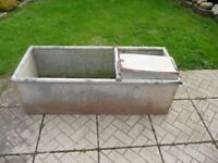 OLD GALVANISED WATER TROUGH